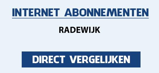 internet vergelijken radewijk