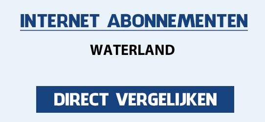 internet vergelijken waterland